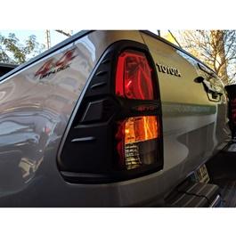 Toyota Hilux Revo Plastic Back lights Cover Black - Model 2016-2020