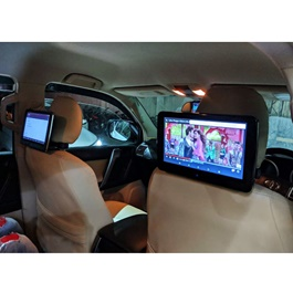 Universal Ultra Slim Headrest 10.1 inch Android LCD IPS Multimedia System - Pair-SehgalMotors.Pk