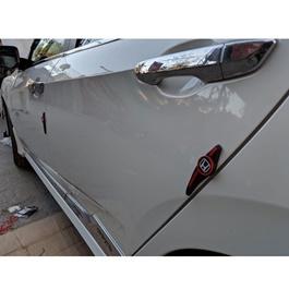 Honda Logo Door Guards Protector Black and Red-SehgalMotors.Pk