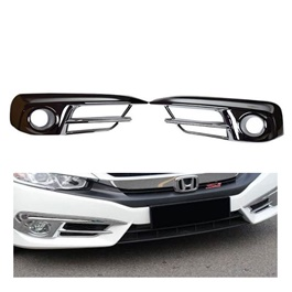 Honda Civic Fog Lamps / Fog Lights Chrome Cover - Model 2016-2020-SehgalMotors.Pk
