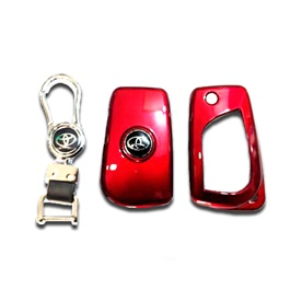 Toyota Corolla Key Protection Cover With Toyota Logo Red - Model 2017-2020-SehgalMotors.Pk