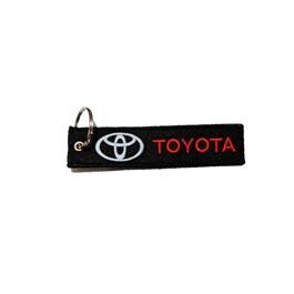 Toyota Logo Cloth Key Chain / Key Ring | Key Chain Ring For Keys | New Fashion Creative Novelty Gift Keychains-SehgalMotors.Pk