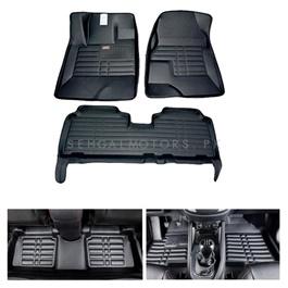 Toyota Corolla 5D Custom Floor Mat Black - Model 2000-2008-SehgalMotors.Pk