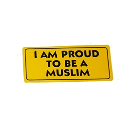 I Am Proud To Be A Muslim Warning Sticker Yellow-SehgalMotors.Pk