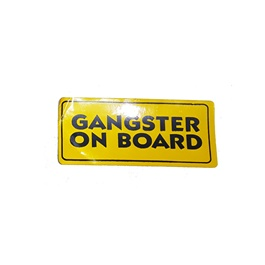 Gangster On Board Warning Sticker Yellow-SehgalMotors.Pk