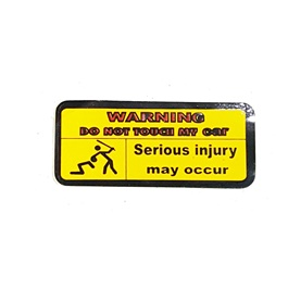 Do Not Touch My Car Warning Serious Injury May Occur Sticker Yellow-SehgalMotors.Pk