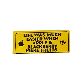 Life Was Much Easier Warning Sticker Yellow -SehgalMotors.Pk