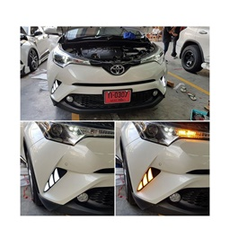 Toyota CHR Running Light Fog Lamps / Fog Lights DRL Cover - Model 2017-2019-SehgalMotors.Pk