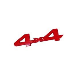 4x4 Monogram   Emblem   Decal   Logo - Red-SehgalMotors.Pk