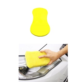 Maximus Water Magnet Pad Yellow | Sponge Easy Grip | Car Wash Sponge | Car Duster | Absorb Water Sponge-SehgalMotors.Pk