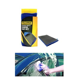 Maximus Flexipad Clay Mitt Black Blue - MX-FCM001 | Car Wash Magic Clay Bar Mitt Car Clay Cloth Auto Care Cleaning Towel Microfiber Sponge Pad Clay Cloth Detailing-SehgalMotors.Pk