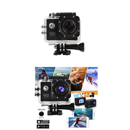 Action Sports Camera With Mounts Without Wifi | Sports Camera | Shoot Location Camera | Portable Camera | Battery Operated Camera | Camera With Wifi-SehgalMotors.Pk