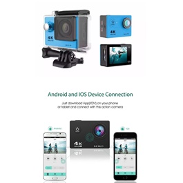 Action Sports Camera GoPro Style with Wifi | Video Output on Mobile Screen-SehgalMotors.Pk