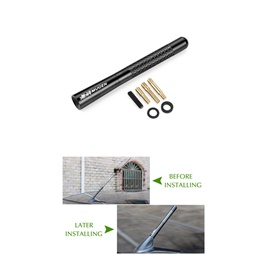 Mugen Metallic Replacement Car Antenna Stylish Decorative Purpose Black-SehgalMotors.Pk