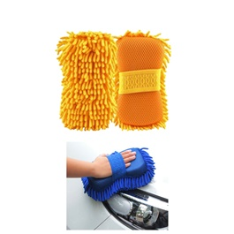 Microfiber Noodle Wash Mitt Sponge | Microfiber Car Wash Sponge | Noodle Washmitt | Super Long Pile Microfibre-SehgalMotors.Pk