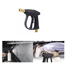 Maximus Pressure Washer Gun Black - Each | High Pressure Washer Spray Gun Jet Lance Nozzle Car Washer Jet Water Gun | Short Spray Gun Jet Lance | Adjustable Jet Washer Clear Tool-SehgalMotors.Pk