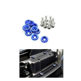 JDM Fender Washers Colorful Car Styling Universal Modification Password License Plate Bolts - Blue-SehgalMotors.Pk