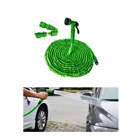 Car Washer Pipe Expandable with Different Functions Green Color - 100-FT-SehgalMotors.Pk