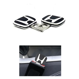 Honda Seat Belt Clips Black and White | Safety Belt Buckles Real Trucks Car Seat Safety Belt Alarm Canceler Stopper | Car Safety Belt Clip Car Seat Belt Buckle-SehgalMotors.Pk