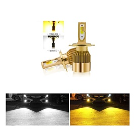 LED Hid Dual Color For Head Lights | Headlamps | Car Front Light - 9005-SehgalMotors.Pk