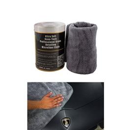Maximus Luxury Double Microfiber Cloth - Each | Auto Car Natural Drying Clean Cloth | Cleaning Cloth | Car Cleaning Towels Drying Washing Cloth | Car Care Cloth Detailing Car Microfibre Cloth-SehgalMotors.Pk