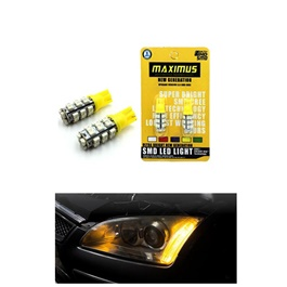 Maximus SMD 28 Parking Light Yellow - Pair | Led Light Bulb For Parking | SMD Car Exterior Parking Lamps Parking Lights Car Accessories-SehgalMotors.Pk