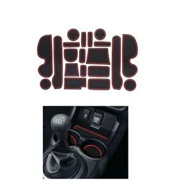 Honda BRV PVC Interior Mats Red - Model 2017-2019 | Car Styling Non Slip Mats | Car Door Groove Mat Interior Cup Door Pad Gate Slot Mat Stickers Accessories-SehgalMotors.Pk