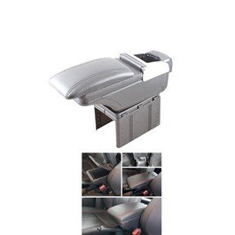 Universal Good Quality Arm Rest with Chrome Grey Color -SehgalMotors.Pk