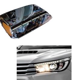 Toyota Hilux Revo Chrome Bonnet Air Flow - Model 2016-2020-SehgalMotors.Pk
