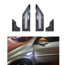 Audi Style Dual Side Fender Marker Lamp Chrome-SehgalMotors.Pk