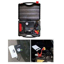 Car Multifunctional Car Battery Jump Starter With Air Compressor-SehgalMotors.Pk