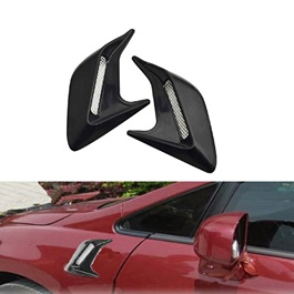 Car Side Air Flow Vent Fender - Black | Car Auto Side Vent Air Flow Fender | Intake Sticker | Car Simulation Side Vents Decorative-SehgalMotors.Pk