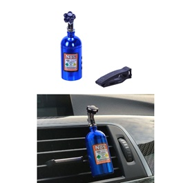 NOS Can Cylinder Shape AC Vent Car Perfume Fragrance - Blue-SehgalMotors.Pk