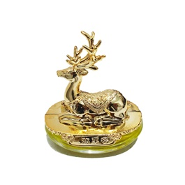 Stag Sculpture Dashboard Car Perfume Fragrance - Golden-SehgalMotors.Pk