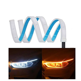 Universal Flexible Headlight / Head Lamp DRL Dual Color External - 60cm-SehgalMotors.Pk