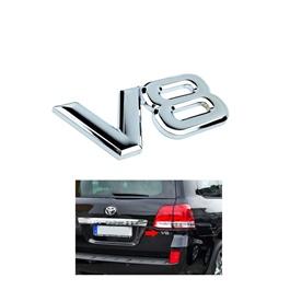Toyota Land Cruiser OEM V8 Monogram logo Emblem original Chrome - Each-SehgalMotors.Pk