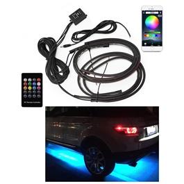 Car Flexible LED Strip Auto Chassis APP Control RGB Decorative Atmosphere Lamp -SehgalMotors.Pk