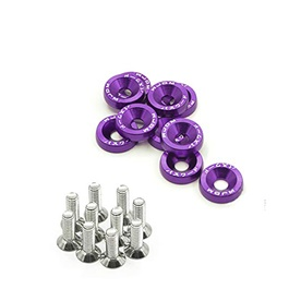JDM Fender Washers Colorful Car Styling Universal Modification Password License Plate Bolts - Purple-SehgalMotors.Pk