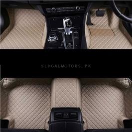 Honda Civic 7D Floor Mats Beige - Model 2006-2012-SehgalMotors.Pk