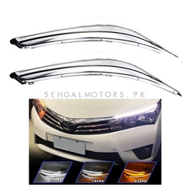 Toyota Corolla Eyebrow LED DRL Sequential - Model 2014-2017 | Audi Style DRL for Corolla-SehgalMotors.Pk