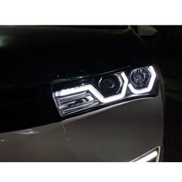 Toyota Corolla U Shape LED Headlights / Head Lamps - Model 2014-2017 (Made in Taiwan)-SehgalMotors.Pk