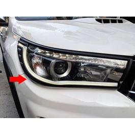 Toyota Hilux Revo LED Headlights / Head Lamps Cover Black - Model 2016-2020-SehgalMotors.Pk