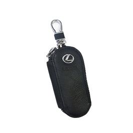 Lexus Zipper Leather Key Chain / Key Ring | Leather Car Key Wallets Keys Organizer | Keychain Covers Zipper Key Case Bag | Zipper Door Key Chain Organizer Key Pouch Case-SehgalMotors.Pk