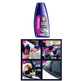 Flamingo Windshield Washer 500ml - Blue | Glass Cleaner | Protect Windshield | WIndshield Cleaner | Windshield Glass Water | Windshield Washer Fluid-SehgalMotors.Pk