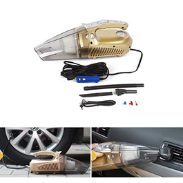 Heavy Duty 4 In 1 Portable Car Vacuum Cleaner & Tire / Tyre Inflator-SehgalMotors.Pk