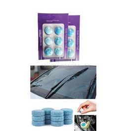 Windshield Washer tablet 6 In 1 Pack Of 2 | Water Car Windshield Glass Washer Cleaner Compact Effervescent Tablets | Detergent Car Beauty Tool Car Accessories | High Performance Car Glass Washer | Windshield Cleaner-SehgalMotors.Pk
