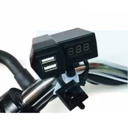 Bike Mobile Charger 2 Usb With Volt Meter-SehgalMotors.Pk
