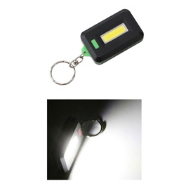 Mini Keychain Flashlight COB LED Key Ring Flash Light Small Lamp Torch Outdoor (without cell battery)-SehgalMotors.Pk