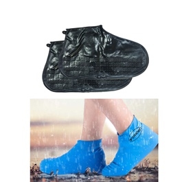 Non Slip Fashion Rain Shoes Rubber Cover - Medium | Water proof Shoe Protector-SehgalMotors.Pk