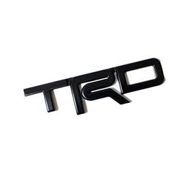 TRD 3D Emblem Metal - Black   Emblem   Decal   Monogram   Logo-SehgalMotors.Pk